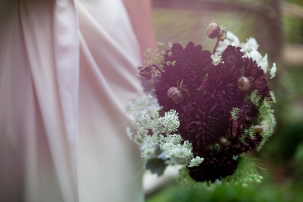 Autumn Wedding Bouquet with Dahlias