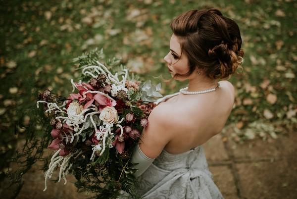 Autumn Wedding Bouquet with Foliage