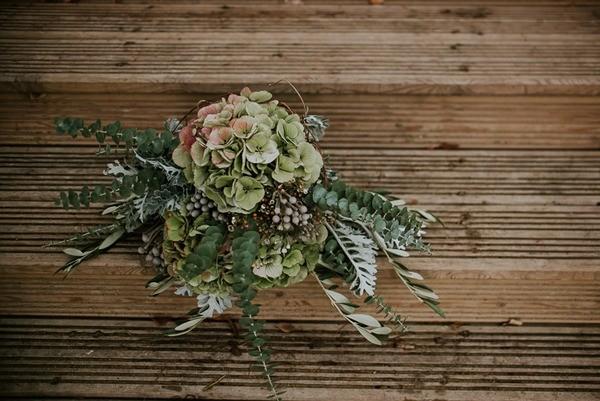 Autumn Wedding Bouquet with Hydrangea
