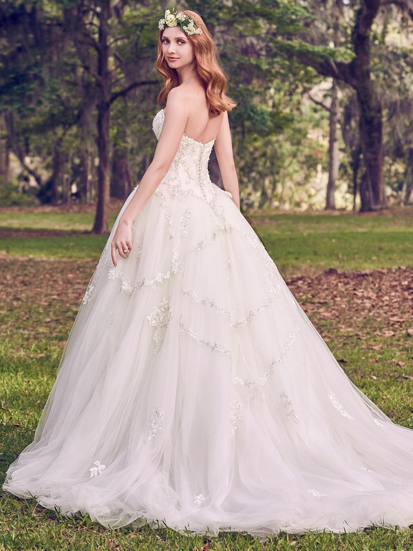 Back of Benton Marie Wedding Dress from the Maggie Sottero Emerald 2018 Bridal Collection