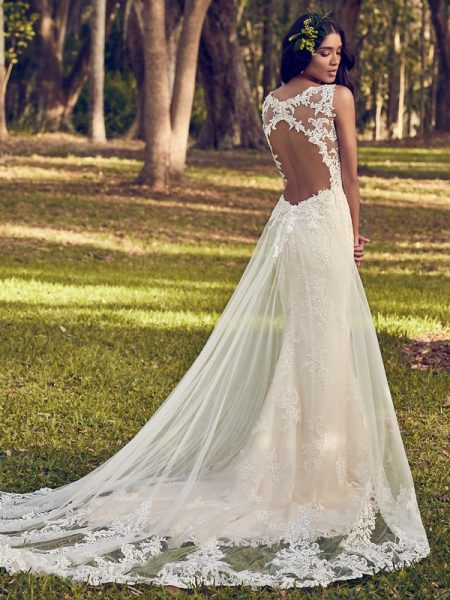 Back of Bernadine Wedding Dress from the Maggie Sottero Emerald 2018 Bridal Collection