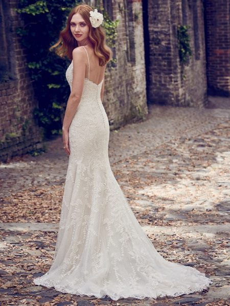 Back of Calista Wedding Dress from the Maggie Sottero Emerald 2018 Bridal Collection