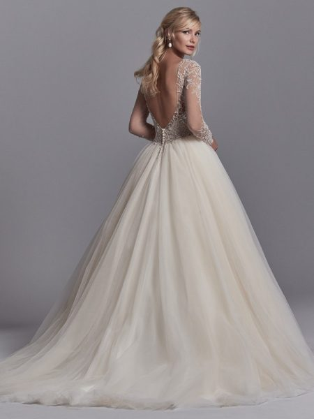 Back of Calvin Wedding Dress from the Sottero and Midgley Khloe 2018 Bridal Collection