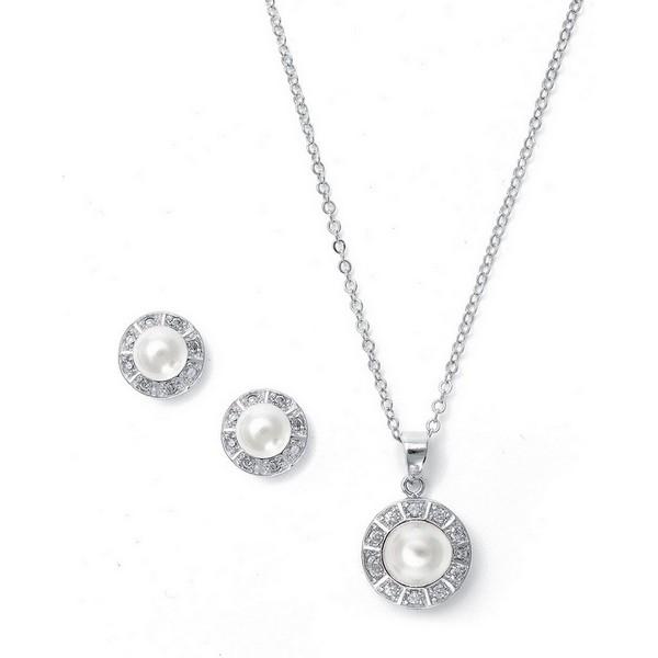 Camilla Pearl Wedding Necklace Set