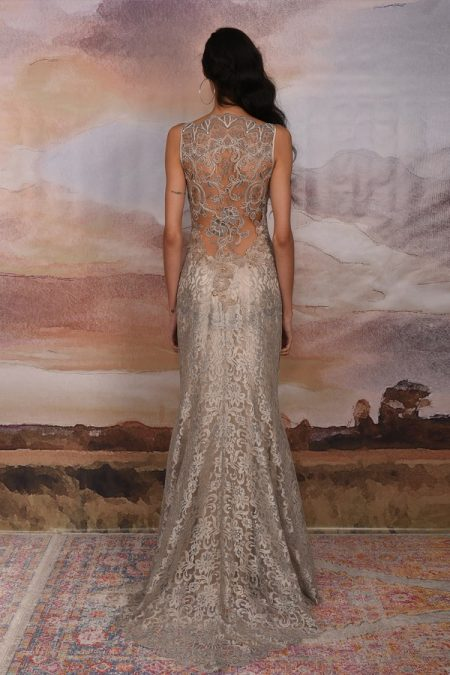 Back of Caravan Wedding Dress from the Claire Pettibone Vagabond 2018 Bridal Collection