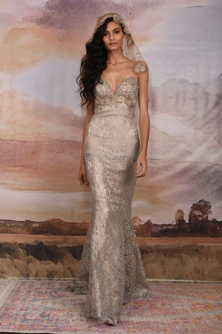 Caravan Wedding Dress from the Claire Pettibone Vagabond 2018 Bridal Collection