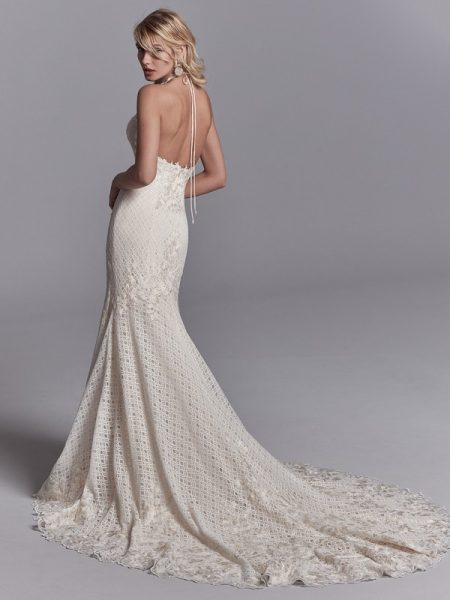 Back of Chance Wedding Dress from the Sottero and Midgley Khloe 2018 Bridal Collection
