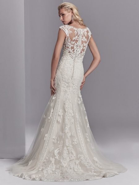 Back of Channing Rose Wedding Dress from the Sottero and Midgley Khloe 2018 Bridal Collection