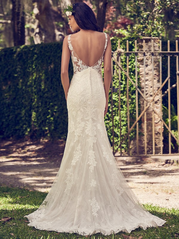 Back of Charlotte Wedding Dress from the Maggie Sottero Emerald 2018 Bridal Collection