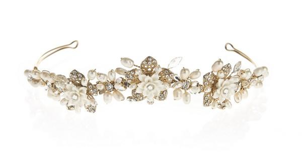 Charlotte Floral Tiara Summer Bridal Accessory
