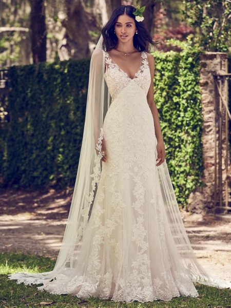 Charlotte Wedding Dress with Veil from the Maggie Sottero Emerald 2018 Bridal Collection