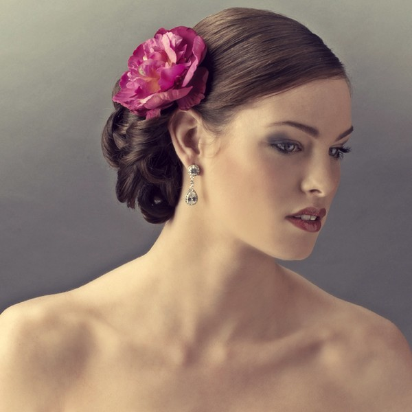 Christina Pink Flower Hair Clip