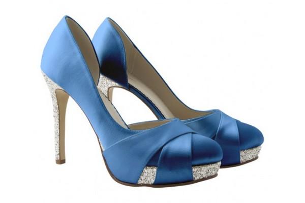 Christy Royal Blue Bridal Shoes Summer Bridal Accessory