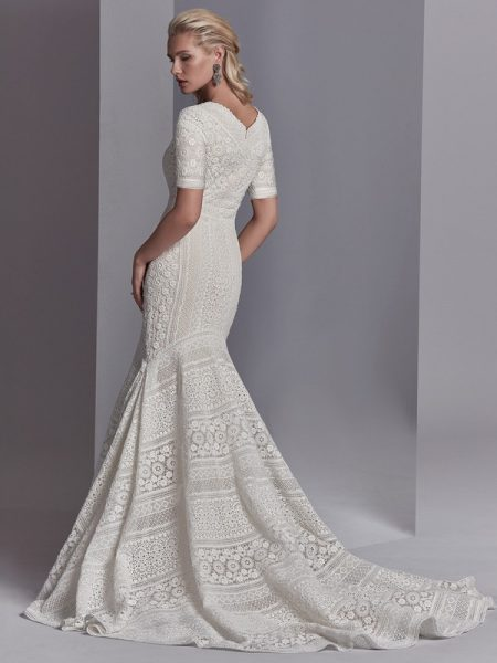 Back of Cooper Rose Wedding Dress from the Sottero and Midgley Khloe 2018 Bridal Collection