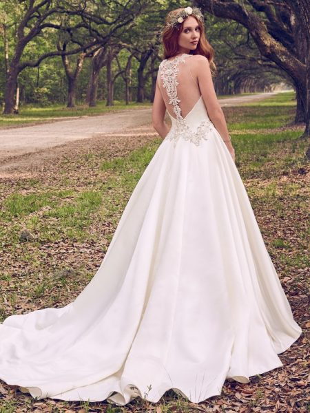 Back of Corianne Wedding Dress from the Maggie Sottero Emerald 2018 Bridal Collection