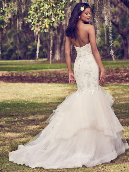 Back of Dalinda Wedding Dress from the Maggie Sottero Emerald 2018 Bridal Collection