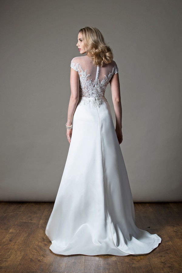 Back of Dolly Wedding Dress from the MiaMia Love Letters 2018 Bridal Collection