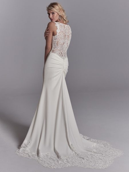 Back of Elliott Wedding Dress from the Sottero and Midgley Khloe 2018 Bridal Collection