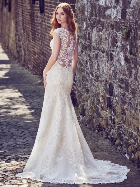 Back of Everly Wedding Dress from the Maggie Sottero Emerald 2018 Bridal Collection