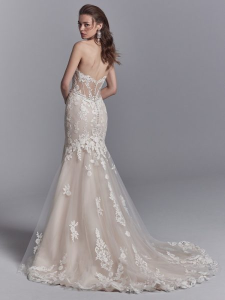 Back of Frankie Wedding Dress from the Sottero and Midgley Khloe 2018 Bridal Collection