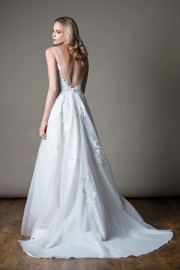 Back of Gayle Wedding Dress from the MiaMia Love Letters 2018 Bridal Collection