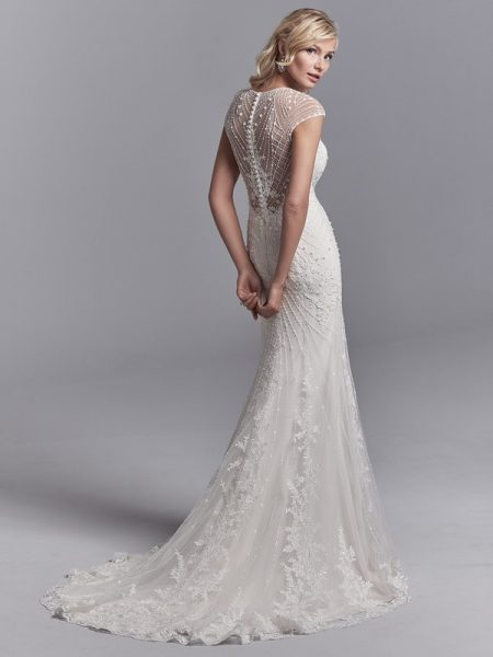 Back of Grady Wedding Dress from the Sottero and Midgley Khloe 2018 Bridal Collection