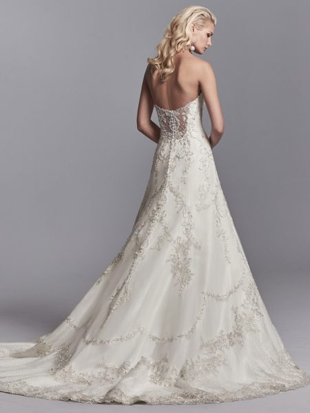 Back of Granger Wedding Dress from the Sottero and Midgley Khloe 2018 Bridal Collection