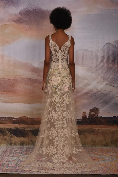Back of Gypsy Rose Wedding Dress from the Claire Pettibone Vagabond 2018 Bridal Collection