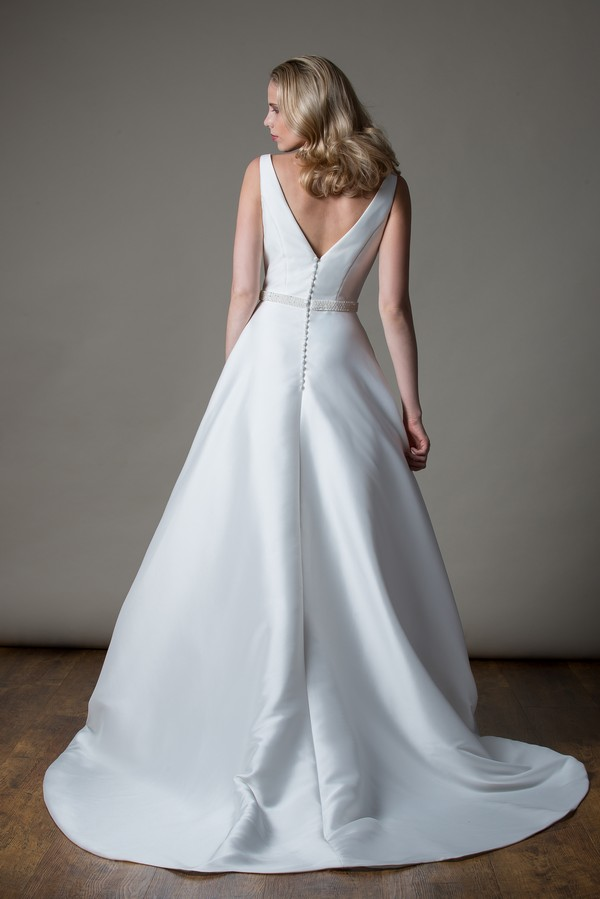 Back of Harper Wedding Dress from the MiaMia Love Letters 2018 Bridal Collection