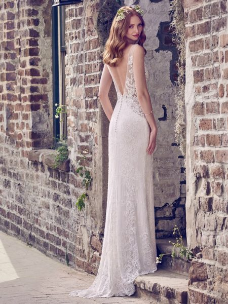 Back of Hazel Wedding Dress from the Maggie Sottero Emerald 2018 Bridal Collection