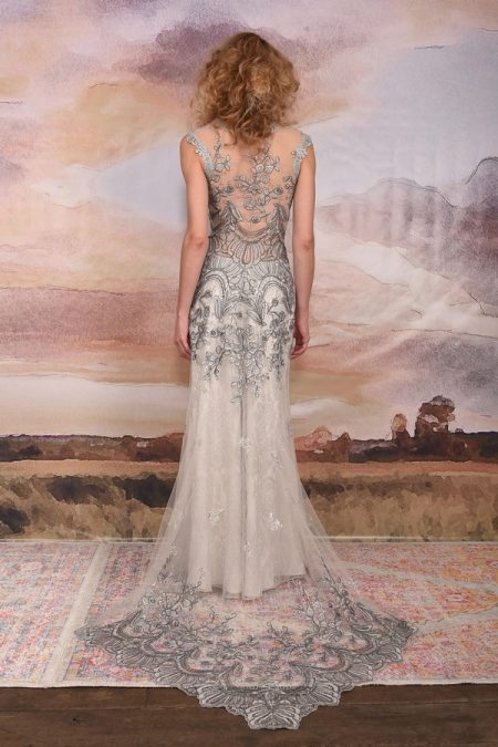 Back of Horizon Wedding Dress from the Claire Pettibone Vagabond 2018 Bridal Collection