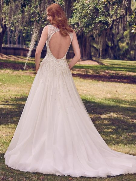 Back of Jace Wedding Dress from the Maggie Sottero Emerald 2018 Bridal Collection
