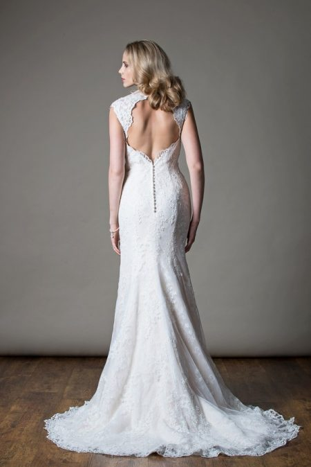 Back of Jemima Wedding Dress from the MiaMia Love Letters 2018 Bridal Collection