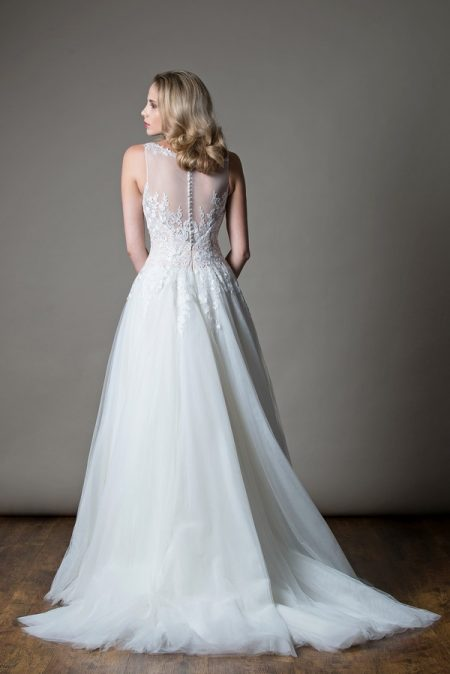 Back of Kathleen Wedding Dress from the MiaMia Love Letters 2018 Bridal Collection