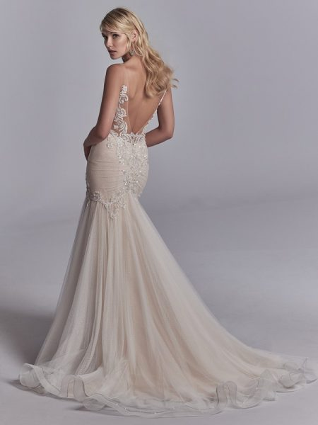 Back of Khloe Wedding Dress from the Sottero and Midgley Khloe 2018 Bridal Collection