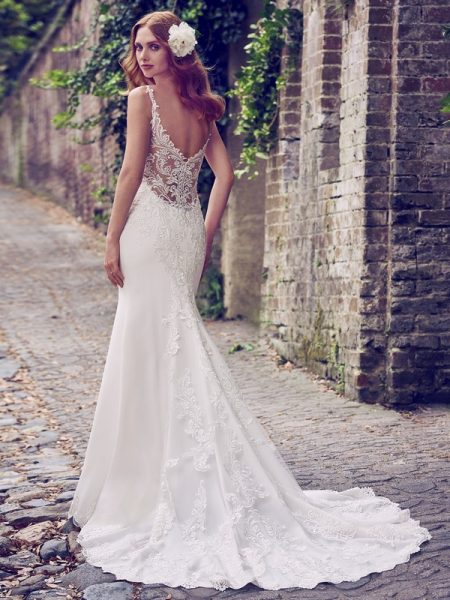 Back of Kiandra Wedding Dress from the Maggie Sottero Emerald 2018 Bridal Collection