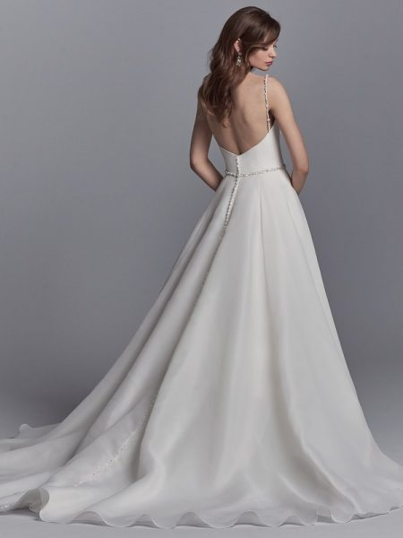 Back of Kyle Wedding Dress from the Sottero and Midgley Khloe 2018 Bridal Collection
