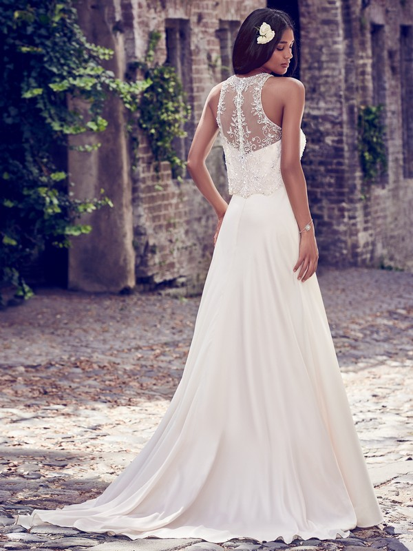 Back of Larkin Wedding Dress from the Maggie Sottero Emerald 2018 Bridal Collection