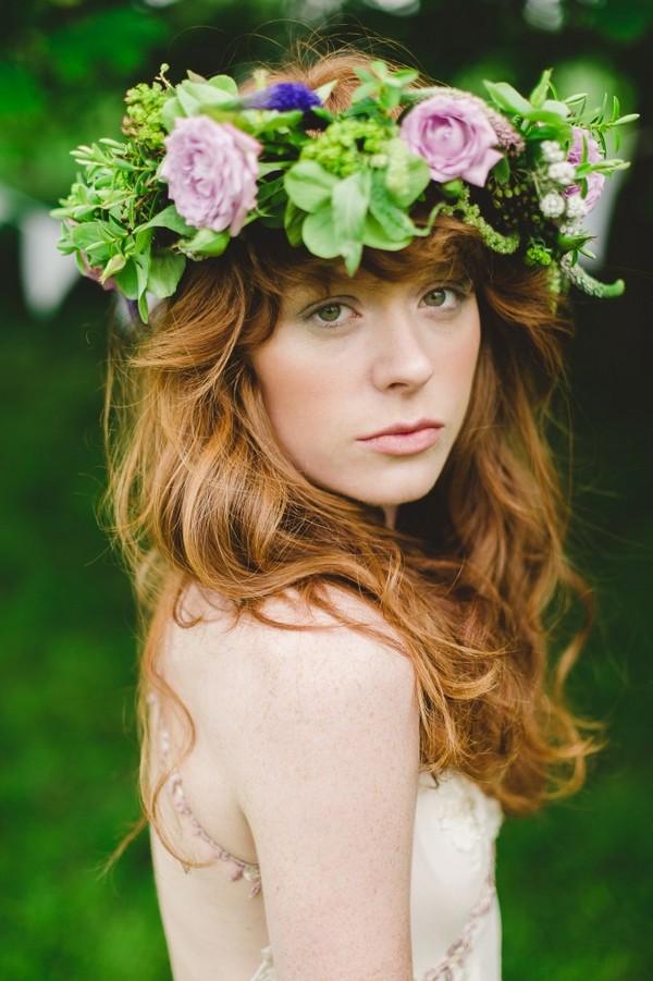 Liz Floral Crown Summer Bridal Accessory