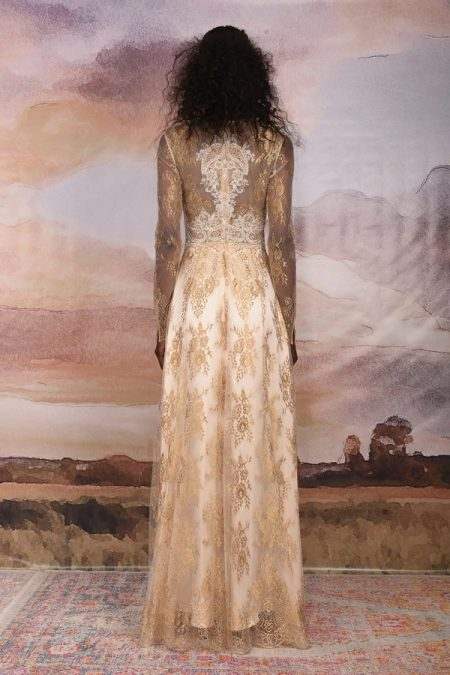 Back of Marrakech Wedding Dress from the Claire Pettibone Vagabond 2018 Bridal Collection