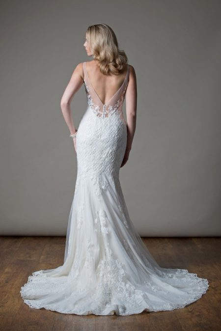 Back of Maude Wedding Dress from the MiaMia Love Letters 2018 Bridal Collection