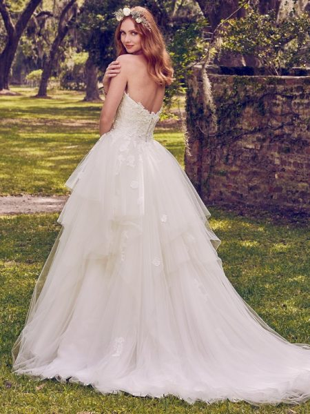 Back of Maura Wedding Dress from the Maggie Sottero Emerald 2018 Bridal Collection