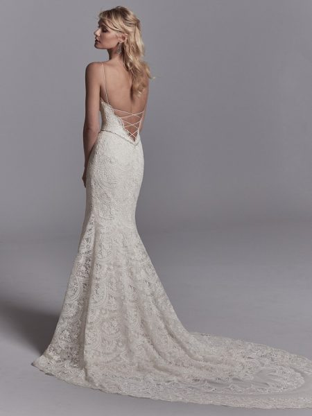 Back of Maxwell Wedding Dress from the Sottero and Midgley Khloe 2018 Bridal Collection