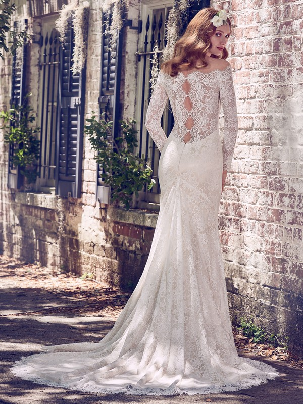 Back of Megan Wedding Dress from the Maggie Sottero Emerald 2018 Bridal Collection