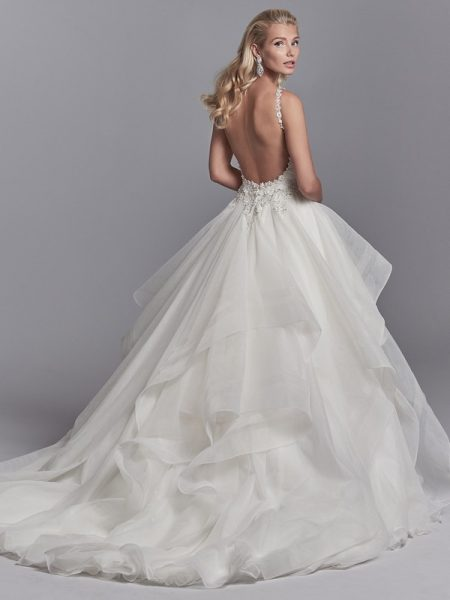 Back of Murphy Wedding Dress from the Sottero and Midgley Khloe 2018 Bridal Collection