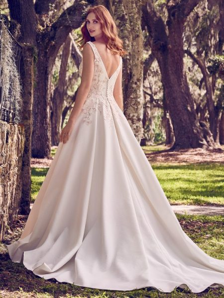 Back of Nalani Wedding Dress from the Maggie Sottero Emerald 2018 Bridal Collection