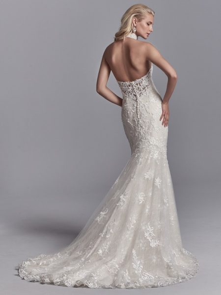 Back of Nerida Wedding Dress from the Sottero and Midgley Khloe 2018 Bridal Collection