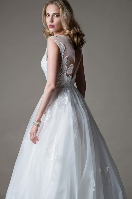 Back of Nicolette Wedding Dress from the MiaMia Love Letters 2018 Bridal Collection