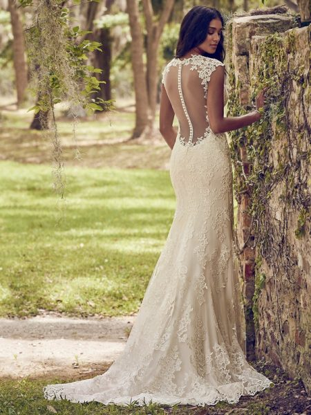 Back of Nori Wedding Dress from the Maggie Sottero Emerald 2018 Bridal Collection