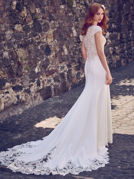 Back of Odette Marie Wedding Dress from the Maggie Sottero Emerald 2018 Bridal Collection